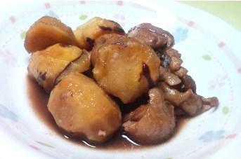鶏肉と栗の煮物